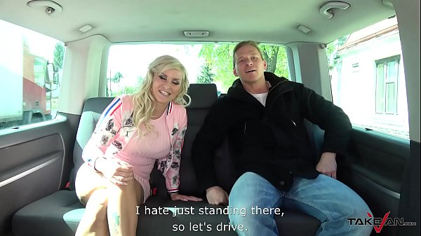 Taxi, Car sex, Outdoors, Young busty, Fake tits, Fake taxi